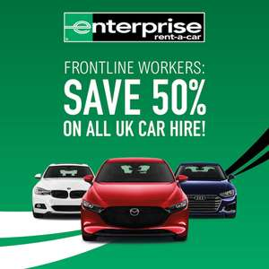 50% off car hire for all frontline workers @ Enterprise