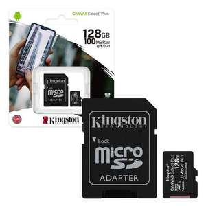 Kingston Canvas Select Plus 128GB Micro SD Memory Card 100MB/s Class 10 with Adapter £14.99 @ 7dayshop