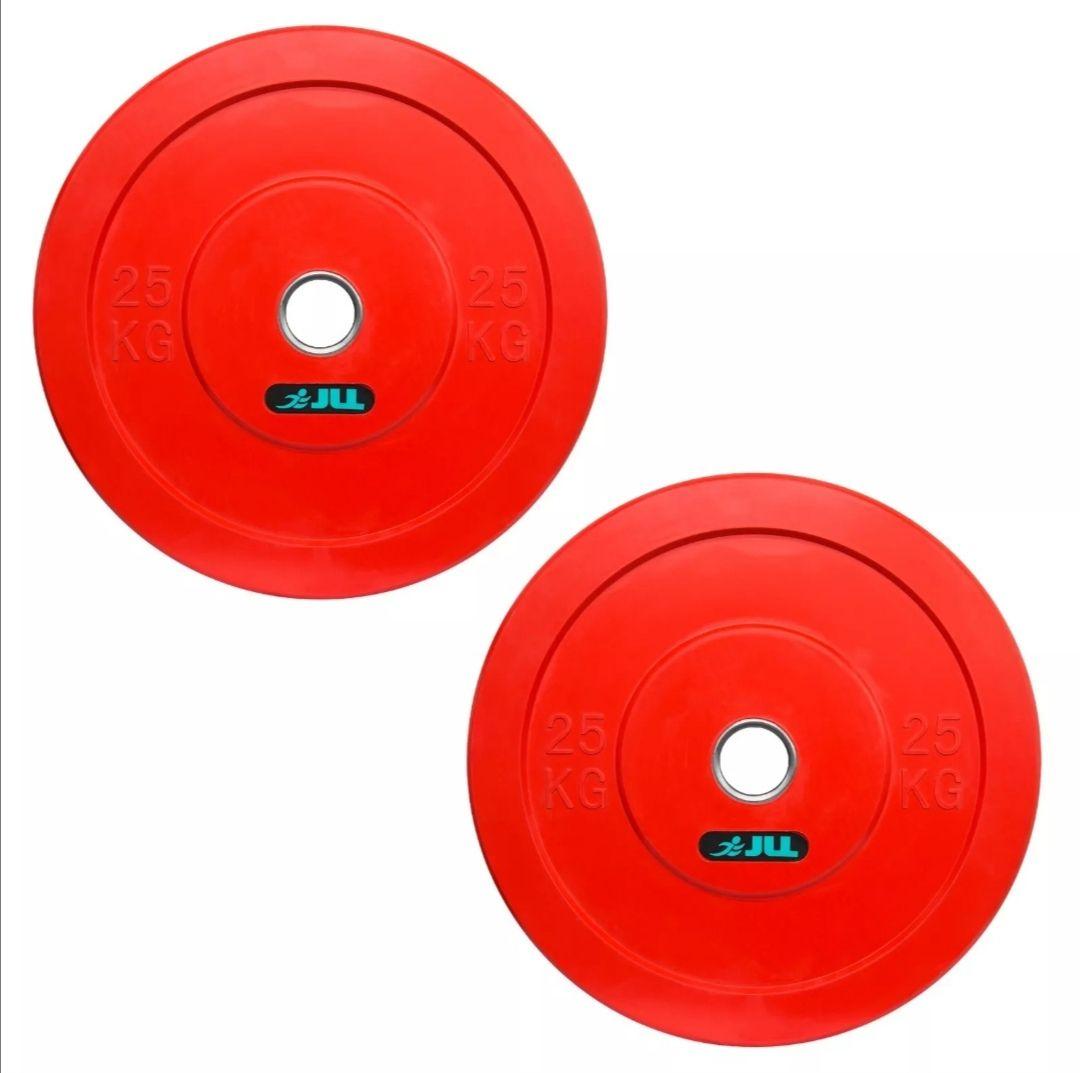 "JLL® Olympic Bumper Plates (25kg x 2) , Coloured Bumper Plates, Suitable on 2"" Olympic bars - £136.19 @ jllfitness eBay"