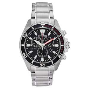 Citizen Eco-Drive Men's Stainless Steel Bracelet Watch - £104.99 with code @ H Samuel