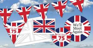 Free Stay At Home Party Printables For 75th Anniversary of VE Day @ Cartridge People