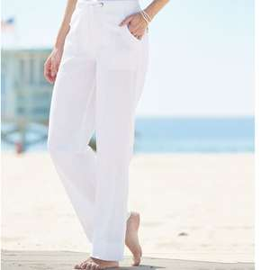 Linen Rich Trousers in 3 colour options £12.33 delivered with code @ Damart