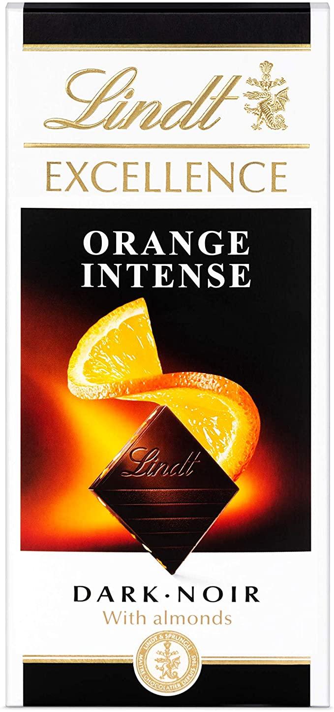 Lindt Excellence Dark Orange Chocolate Bar Each 100g £1.50 (Prime) + £4.49 (non Prime) at Amazon