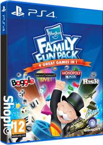 Hasbro Family Fun Pack (Trivial Pursuit / Risk / Monopoly Plus / Boggle) £12.85 + 99p delivery @ ShopTo