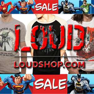 Massive Sale (Marvel, DC, Star Wars, Harry Potter, Various Bands, Gaming, Geeky / Alternative Clothes & Accessories etc) @ Loud Shop