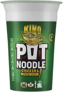 2 x Pot Noodle Chicken and Mushroom King Pots 114g £1.40 @ Amazon Prime / £5.98 Non Prime