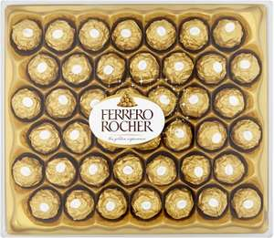 Ferrero Rocher Chocolate Gift Set, Hazelnut and Milk Chocolate Pralines, Box of 42 Pieces £12 at Amazon (+ £4.49 Non-Prime)