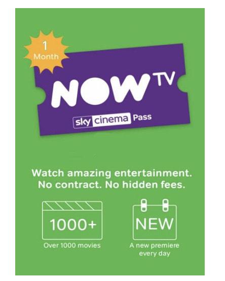 NowTV - 1 Month Cinema Pass £3.99 @ CDKeys