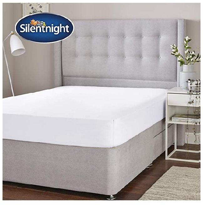 Silentnight cotton rich fitted sheet, white, single £3 + £4.49 NP @ Amazon