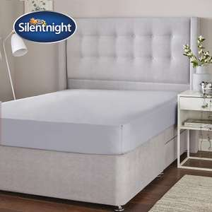 Silentnight Cotton Rich Fitted Sheet, Silver, King £3.60 + £4.49 NP @ Amazon