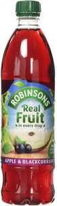 Robinsons Apple and Blackcurrant No Added Sugar Fruit Drink Bottle 1 Litre £1.50 (+ £4.49 NP) at Amazon