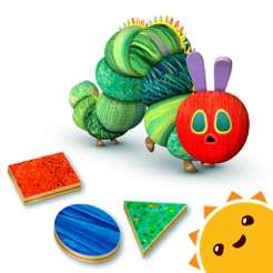 Free IOS App : Very Hungry Caterpillar Shapes