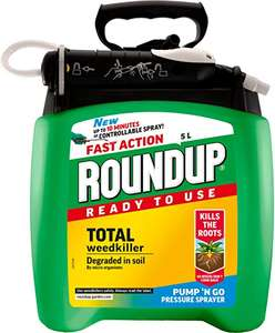Roundup Fast Action Weedkiller Pump 'N Go Ready To Use Spray, 5 L £22 @ Amazon