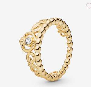 Pandora 18ct gold plated ring - £29 + £2.99 del - all sizes available @ Pandora