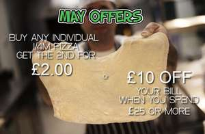 Firezza - Buy any individual 1/4m pizza and get the 2nd for £2