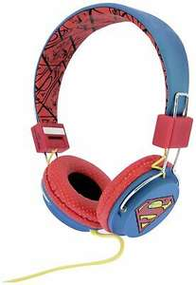 Superman Tween On-Ear Foldable Adjustable Wired Headphones - Blue £7.99 & Free Delivery ( Also Wonder Woman design £9.99 ) @ Argos / Ebay