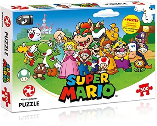 Mario and Friends 500-piece Jigsaw Puzzle + Poster £9.80 (+£4.49 non-Prime) @ Amazon