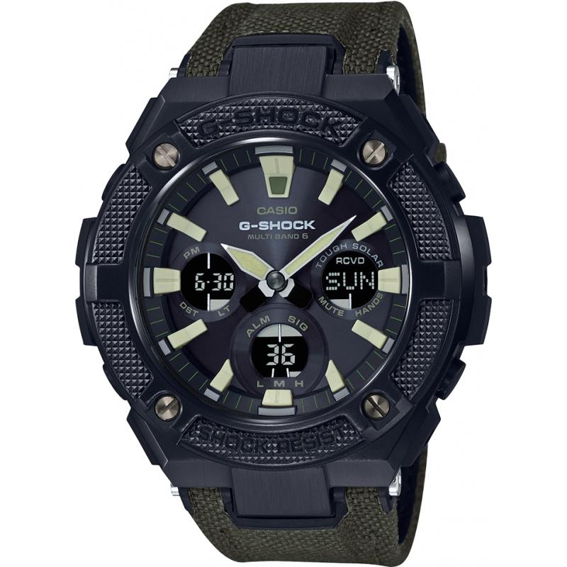 Casio Mens G-Shock G-Steel Solar Radio Controlled Khaki Military Strap Watch - £139.99 at Watches2U