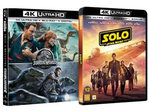 Jurassic World / Jurassic World: Fallen Kingdom / Solo: A Star Wars Story (4K HD Bluray) All 3 films £13.99 delivered @ YouBerDeals91 / eBay