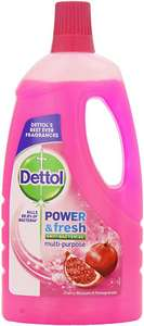 Dettol Power and Fresh Floor Cleaner, Cherry Blossom and Pomegranate, 1 Litre 99p Poundstretcher Willerby