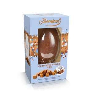 Thorntons easter egg reduced Fabulous Fudge Easter Egg £3 + £3.95 del at Thorntons