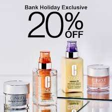 20% off all Clinique moisturisers and serums