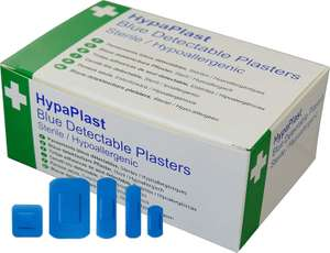 First Aid Essential: 100 Pack HypaPlast Catering Plasters - Assorted | Washproof Plasters - 7.2 x2.5cm for £3 (+£4.49 NP) Delivered @ Amazon