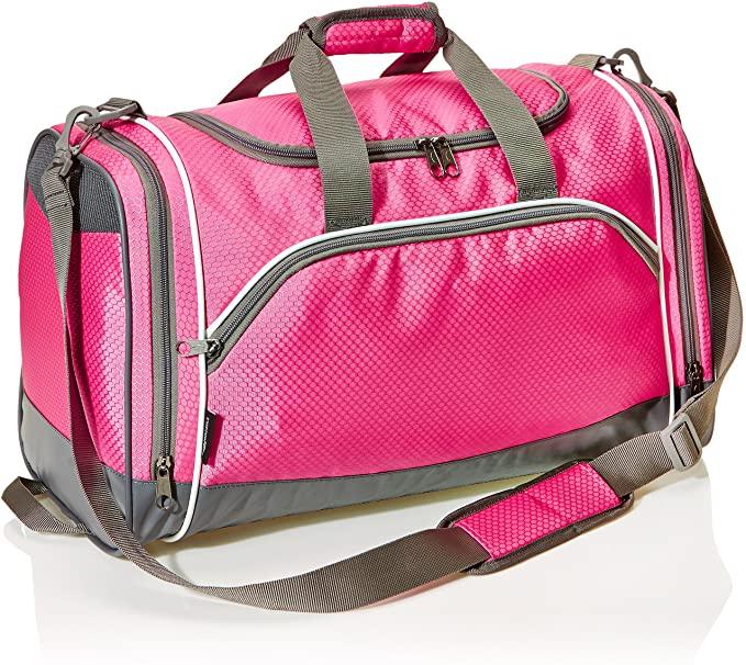 AmazonBasics Sports Duffel - Small, Pink £12.96 (Prime) + £4.49 (non Prime) at Amazon