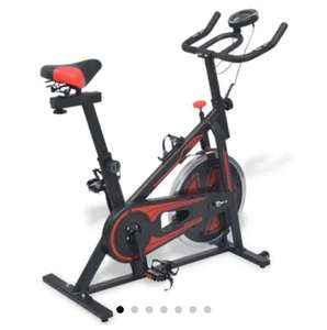 Exercise Spinning Bike with Pulse Sensors Black and Red £121.99 delivered @ vidaXL