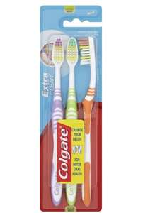 Colgate Palmolive Extra Clean Toothbrush Medium (Pack of 3), Assorted min quantity 2 £2 prime / £6.49 non prime @ Amazon