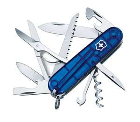 Victorinox Huntsman Swiss Army Pocket Knife, Jelly Blue/Silver - £23.87/£25.53 at Amazon