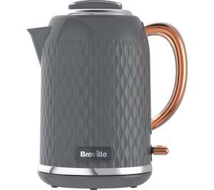 BREVILLE Curve VKT118 Jug Kettle - Grey & Rose Gold - £34.99 @ Currys PC World