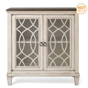 Pike & Main Jane Two-Tone Cream Accent Console - Mahogany solid wood & Okoume veneers - £149.89 Delivered @ Costco