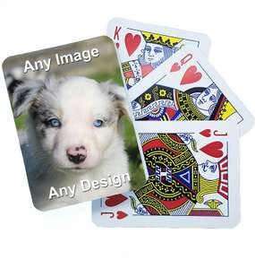 Personalised Playing Cards £3 w/Voucher (Plus £2.99 Delivery) from PhotoBox