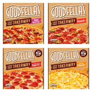 Goodfella's Takeway Pizzas (Mighty Meat Feast 595g / Pepperoni 553g / Diavolo 546g / Big Cheese 555g) - £2 each @ Morrisons