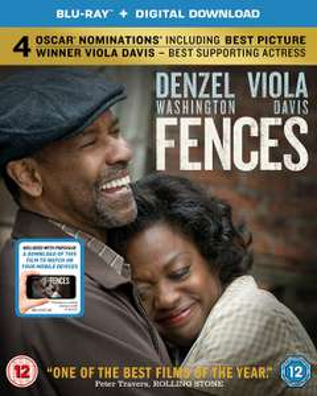 FENCES: Blu-Ray & Digital Download, Film Directed By & Starring Denzel Washington £3.99 (Prime) £6.98 (Non Prime) @ Amazon UK