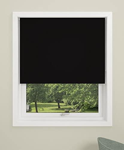 DEBEL Roller Blind, Uni, Fabric, Black, 120 x 175 cm - £10.69 (Prime) £15.18 (Non Prime) @ Amazon