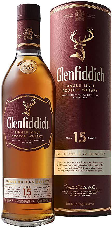 Glenfiddich 15 year old Scotch malt whisky £34 @ Amazon