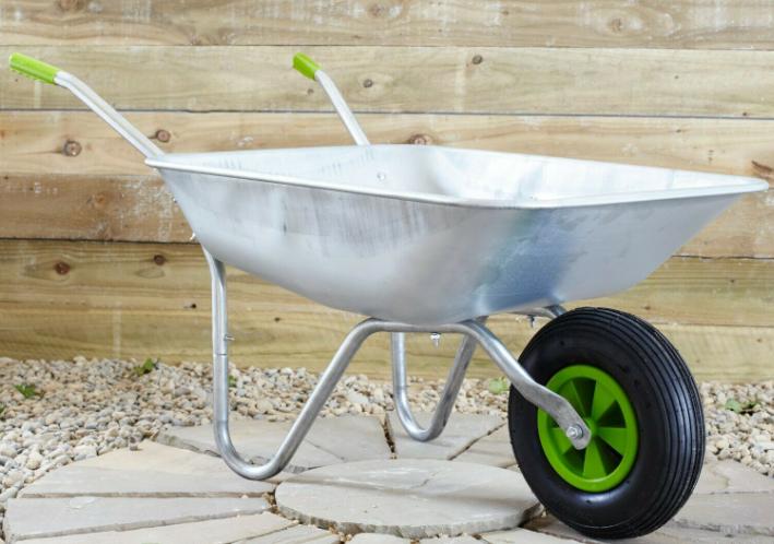 "65L Wheelbarrow Garden Cart Galvanised, Weight Capacity of 100kgs 33cm /13""Pneumatic Tyre - £26.95 with code @ Neodirect eBay"