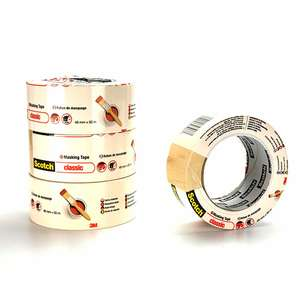 4 x Large Scotch Classic Beige Masking Tape 48mm x 50m £10 ( £2.50 per Roll ) Delivered Free