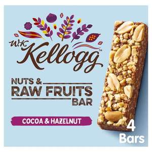Kellogg's Wkk Cocoa & Hazelnut Bar 4x 30g + Kellogg's Wkk Apple&Pumpkin Bar 4X30g £1.24 But FREE for both via CheckoutSmart @ Tesco