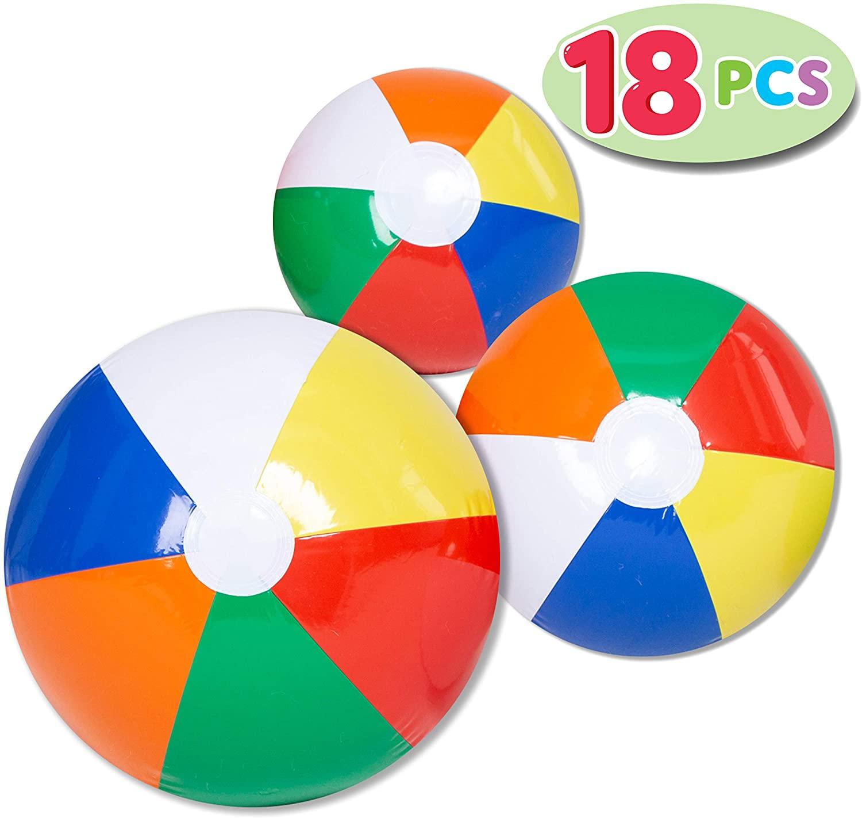 JOYIN Rainbow Beach Balls (18 Pack) £1.99 Amazon Prime / £6.48 Non Prime Sold by Joyin Direct and Fulfilled by Amazon