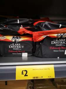 The Lake District mature cheddar/mild cheddar 350g £2 at Morrisons (seen in Waterloo Huddersfield store)