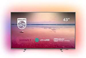 """Philips Ambilight 43PUS6754 43"""" 4K UHD Smart TV with HDR 10+, Dolby Vision, Dolby Atmos - £299 dispatched & sold by Richer Sounds @ Amazon"""