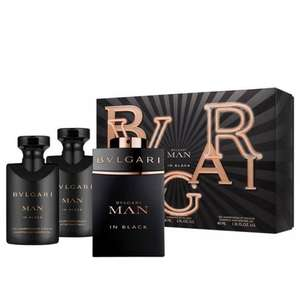 BVLGARI Man in Black Eau De Parfum 60ml, Aftershave Balm 40ml & Shower Gel 40ml Gift Set £36 delivered with code @ Beauty Base
