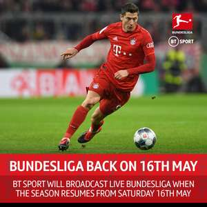 Live Bundesliga football returns on BT Sport this Friday. Monthly pass £25 contract free