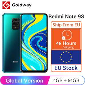 Xiaomi Redmi Note 9S 64GB/4GB RAM £176.33 - 128GB/6GB £193.21 - Dispatched from France - @ AliExpress Hong Kong Goldway