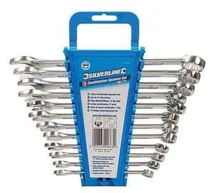 12 Pieces Silverline SP1236 Combination Spanner, 8-19 mm - £9.99 (Prime) / £14.48 (non Prime) @ Amazon