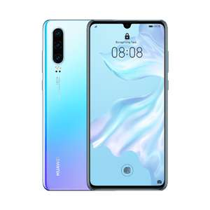 Huawei P30 Mobile £25 p/m £100GB Unlimited Minutes / texts - 24 months £29 upfront at Three
