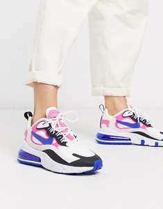 Nike Air Max 270 React White Pink And Black Trainers - £84 @ ASOS